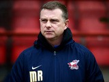 Scunthorpe United manager Mark Robins during the Sky Bet League One match between Leyton Orient and Scunthorpe United at The Matchroom Stadium on January 31, 2015