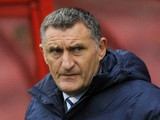 Coventry City Manager Tony Mowbray looks on during the Sky Bet League One match between Swindon Town and Coventry City at The County Ground on October 24, 2015