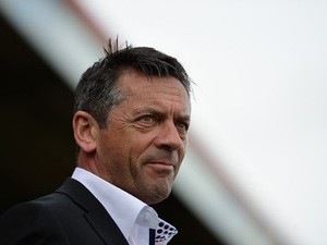 Phil Brown of Southend United looks on during the Sky Bet League 2 Playoff Semi-Final between Stevenage and Southend United at The Lamex Stadium on May 10, 2015