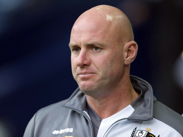 Rob Page manager of Port Vale during the Capital One Cup Second Round match between West Bromwich Albion and Port Vale at The Hawthorns on August 25, 2015