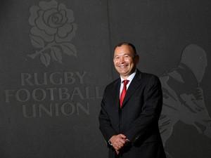 Eddie Jones, the new England Rugby head coach, poses at Twickenham Stadium on November 20, 2015