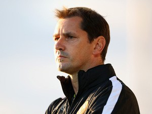 Jackie McNamara, the Dundee United manager looks on during the pre season friendly match between Queens Park Rangers and Dundee United at The Hive on July 22, 2015