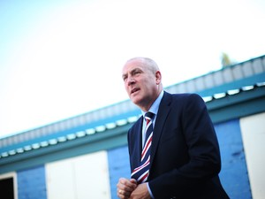 Rangers manager Mark Warburton arrives at the ground during the Scottish Championships match between Greenock Morton FC and Rangers at Cappielow Park on September 27, 2015 in Greenock, Scotland.