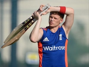 Sam Billings during an England nets session on November 22, 2015