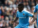 Bright Enobakhare of Wolverhampton Wanderers FC during the Sky Bet Championship match between Derby County and Wolverhampton Wanderers at Pride Park Stadium on October 18, 2015