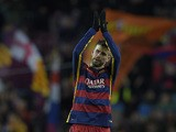 Barcelona's defender Gerard Pique celebrates after scoring during the UEFA Champions League Group E football match FC Barcelona vs AS Roma at the Camp Nou stadium in Barcelona on November 24, 2015