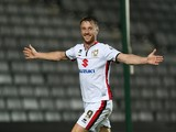 Dean Bowditch of MK Dons celebrates after scoring his sides 1st goal during the Sky Bet Championship game between Milton Keynes Dons and Charlton Athletic at Stadium MK on November 3, 2015