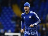 Eden Hazard warms up at White Hart Lane prior to the game between Spurs and Chelsea on November 29, 2015
