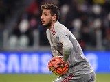 Gianluigi Donnarumma of AC Milan looks on during the Serie A match between Juventus FC and AC Milan at Juventus Arena on November 21, 2015