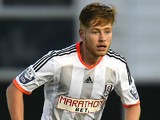 Jordan Evans of Fulham U21 in action during the Barclays U21 Premier League International Cup Semi Final match between Fulham U21 and FC Porto U21 at Motspur Park Training Ground on April 22, 2015 in London, England.