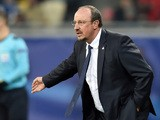 Real Madrid's Spanish coach Rafael Benitez reacts during the UEFA Champions League group A football match between Shakhtar Donetsk and Real Madrid in Lviv on November 25, 2015