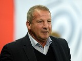 Montpellier's French coach Rolland Courbis looks on during the French L1 football match between Lille and Montpellier on October 2, 2015
