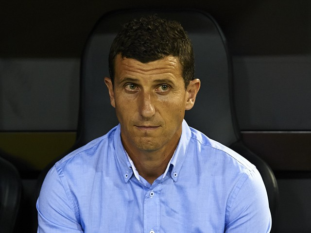 Malaga manager Javi Gracia looks on prior the La Liga match between Valencia CF and Malaga CF at Estadi de Mestalla on August 29, 2014