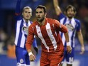 Sevilla's midfielder Iborra celebrates after scoring a goal during the Spanish league football match RC Deportivo de la Coruna vs Sevilla FC at the Municipal de Riazor stadium in La Coruna on December 5, 2015. The match ended with a 1-1 draw.