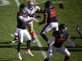 Quarterback Jay Cutler #6 of the Chicago Bears passes the football in the second quarter against the San Francisco 49ers at Soldier Field on December 6, 2015