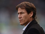 AS Roma head coach Rudi Garcia looks on during the Serie A match between Torino FC and AS Roma at Stadio Olimpico di Torino on December 5, 2015