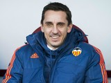 Head coach Gary Neville of Valencia CF looks on prior to the start the la Liga match between SD Eibar and Valencia CF at Ipurua Municipal Stadium on December 13, 2015 in Eibar, Spain.
