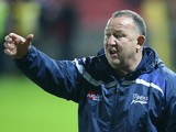 Steve Diamond, the Sale Sharks director of rugby issues instructions during the Aviva Premiership match between Gloucester and Sale Sharks at Kingsholm on December 4, 2015