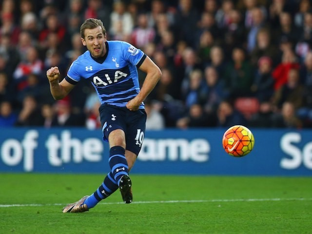 Harry Kane scores for Spurs at Southampton on December 19, 2015