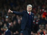 Arsenal manager Arsene Wenger gives the thumbs up during his side's 2-1 victory over Manchester City on December 21, 2015
