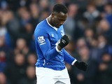 Romelu Lukaku celebrates scoring Everton's first against Stoke on December 28, 2015