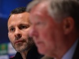 Ryan Giggs and Alex Ferguson pictured together at a press conference in March 2013