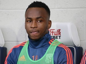 West Brom's Saido Berahino sits on the bench during the game with Newcastle United on December 28, 2015