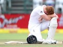 Jonny Bairstow has a rest during day five of the second Test between South Africa and England on January 6, 2016