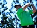 Patrick Reed plays his shot from the third tee during round one of the Hyundai Tournament of Champions at the Plantation Course at Kapalua Golf Club on January 7, 2016