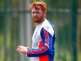 A disturbed Jonny Bairstow in action during an England practice session on January 11, 2016