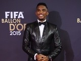 Samuel Eto'o attends the FIFA Ballon d'Or Gala 2015 at the Kongresshaus on January 11, 2016