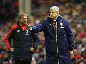 Jurgen Klopp and Arsene Wenger during the game between Liverpool and Arsenal on January 13, 2016