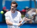 Andy Murray practises on day one of the Australian Open on January 18, 2016