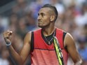 Nick Kyrgios in action on day three of the Australian Open on January 20, 2016