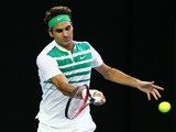Roger Federer in action on day one of the Australian Open on January 18, 2016