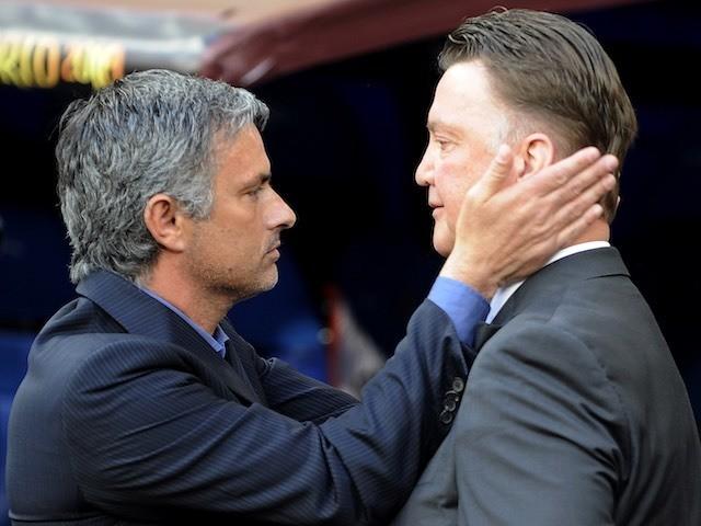 Jose Mourinho and Louis van Gaal pictured in 2010