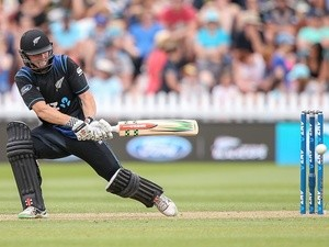 Henry Nicholls of New Zealand bats during the one-day international match against Pakistan at Basin Reserve on January 25, 2016