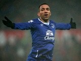 Aaron Lennon celebrates scoring his team's third goal during the Premier League match between Stoke City and Everton on February 6, 2016
