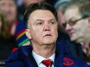 Louis van Gaal watches on during the Premier League game between Manchester United and Stoke on February 2, 2016