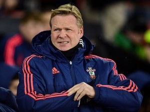Ronald Koeman gets ready for battle ahead of the Premier League game between Southampton and West Ham United on February 6, 2016
