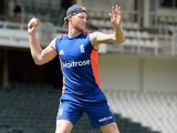 Ben Stokes still in action during an England training session on February 11, 2016
