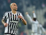 Simone 'Lady' Zaza celebrates scoring during the Serie A game between Juventus and Napoli on February 13, 2016