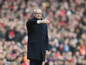 Reverend Claudio Ranieri during the Premier League game between Arsenal and Leicester City on February 14, 2016