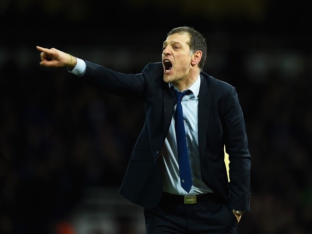 Slaven Bilic points and shouts during the FA Cup fourth-round replay between West Ham United and Liverpool on February 9, 2016