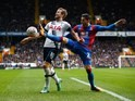 Harry Kane and Joel Ward in action during the FA Cup game between Tottenham Hotspur and Crystal Palace on February 20, 2016