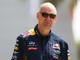Red Bull chief technical officer Adrian Newey walks into the paddock during final practice for the Bahrain Grand Prix on April 18, 2015