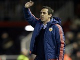 Gary Neville on the sidelines during the Europa League game between Valencia and Rapid Vienna on February 18, 2016