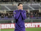 Mauro Zarate reacts during the Europa League game between Fiorentina and Tottenham Hotspur on February 18, 2016