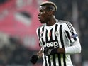 Paul Pogba in action during the Champions League game between Juventus and Bayern Munich on February 22, 2016