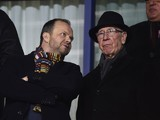 Ed Woodward and Bobby Charlton have a natter during the FA Cup game between Shrewsbury Town and Manchester United on February 22, 2016
